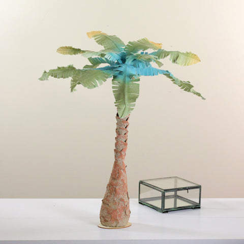"30"" Summertime Tropical Beach Midnight Blue Coconut Tree"