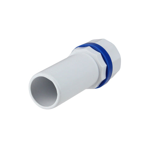 "1"" White and Blue Deluxe Handle for Adjustable Swimming Pool Poles"