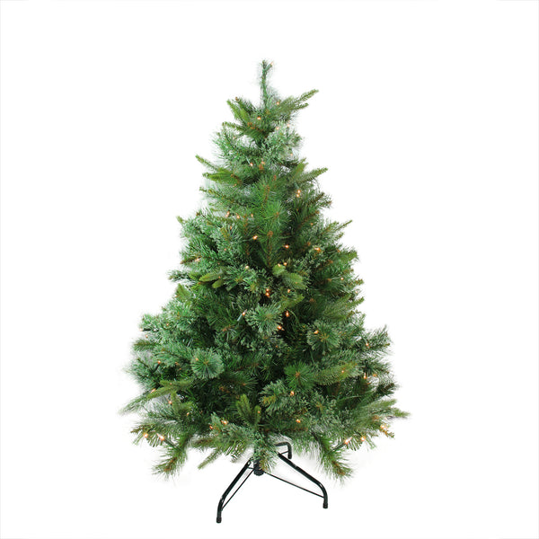 4.5' Pre-Lit Full Ashcroft Cashmere Pine Artificial Christmas Tree - Clear Dura-Lit Lights