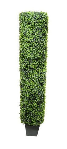 4' Potted Two-Tone Artificial Rectangular Boxwood Topiary Tree