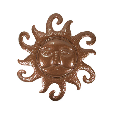 "20.5"" Chocolate Brown Sunshine Outdoor Patio Wall Decoration"