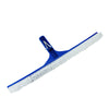 "18"" Blue Standard Curved Swimming Pool Bristle Wall Brush"