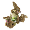 "13"" Decorative Bunny Mom and Children with Flower and Scarf Figures"