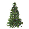 7.5' Pre-Lit Full Layered Pine Artificial Christmas Tree - Multicolor LED Lights
