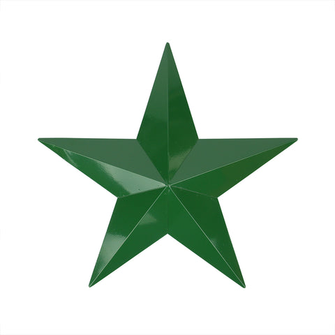 "36"" Hunter Green Country Rustic Star Outdoor Patio Wall Decoration"
