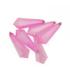 6ct Bubblegum Pink Shatterproof Transparent Christmas Icicle Ornaments 5.5""
