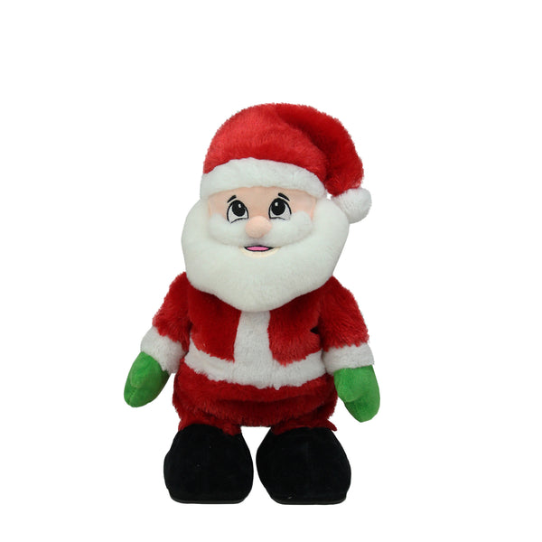 "12"" Animated Tickle 'n Laugh Santa Claus Plush Christmas Figure"