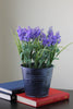 "12"" Potted Artificial Purple Lavender Flower Arrangement"