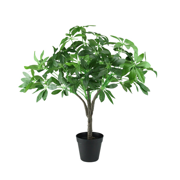 "23"" Artificial Schefflera Arboricola Potted Umbrella Tree"