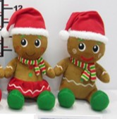 "2 Assorted 11"" Plush Gingerbread"
