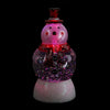 "7.5"" LED Lighted Color-Changing Snowman with Top Hap Snow Globe Christmas Figure"
