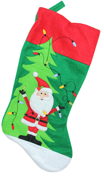 Green and Red Felt Stocking