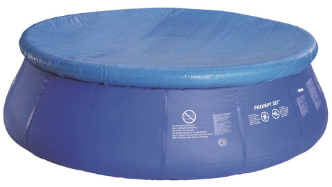 10.75' Blue Durable Round Prompt Set Swimming Pool Cover with Rope Ties