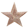 4' Lighted Elegant Red and Gold Sequined Star Christmas Outdoor Decoration