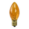 Pack of 25 Transparent C7 Orange Christmas Replacement Bulbs