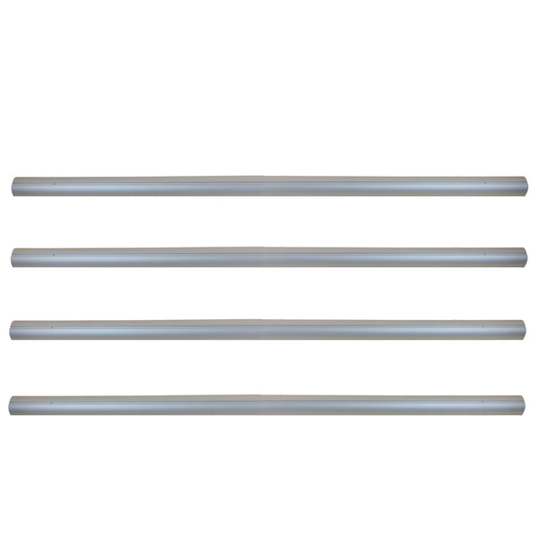 "Set of 4 Gray Tubes for In-Ground Swimming Pool Cover Reel System 4"" x 16'"