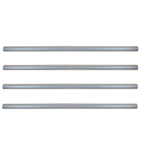 16' Silver Colored Aluminum Tubes for In-Ground Pool Cover Reel System