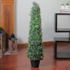 3' Potted Two-Tone Boxwood Artificial Topiary Christmas Tree - Unlit
