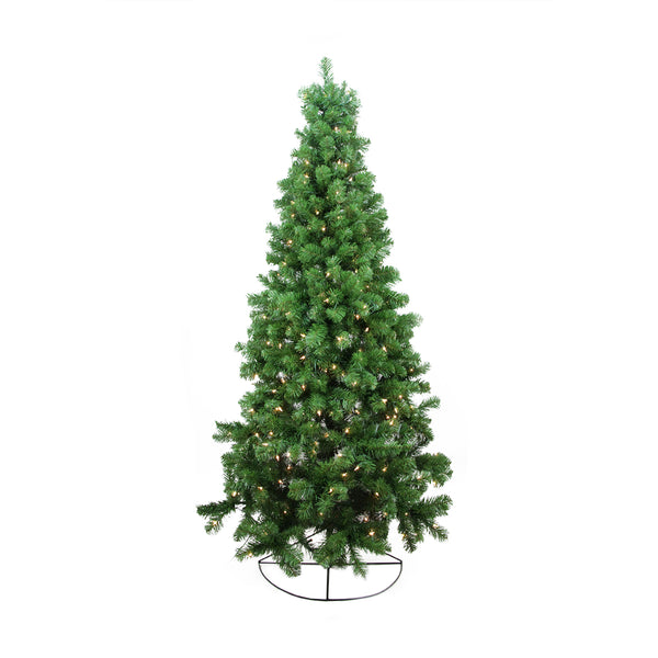 6' Pre-Lit Pine Artificial Wall Christmas Tree - Clear Lights