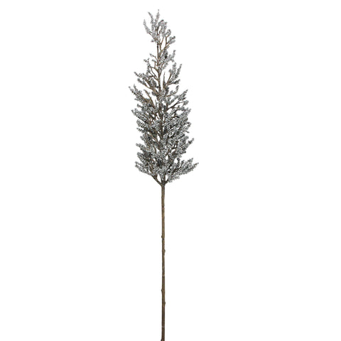 "39"" Brown and Silver Glittered Artificial Pine Spring Christmas Branch Spray"