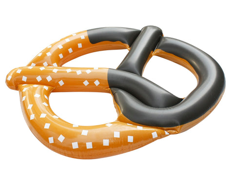 "51"" Inflatable Brown and Black Pretzel Swimming Pool Novelty Raft Float"