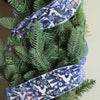 "Pack of 12 Blue Winter Wonderland Flying Reindeer Wired Christmas Craft Ribbon Spool - 2.5"" x 120 Yards Total"