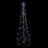5' Pure White LED Lighted Cone Tree Outdoor Christmas Decoration