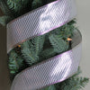 "Club Pack of 12 Shiny Silver Striped Wired Christmas Craft Ribbon Spools 2.5"" x 120 Yards"