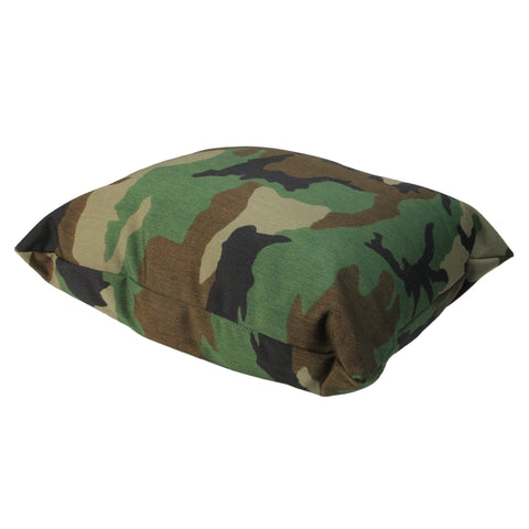 "17"" Green and Brown Camouflage Outdoor Furniture Patio Throw Pillow"