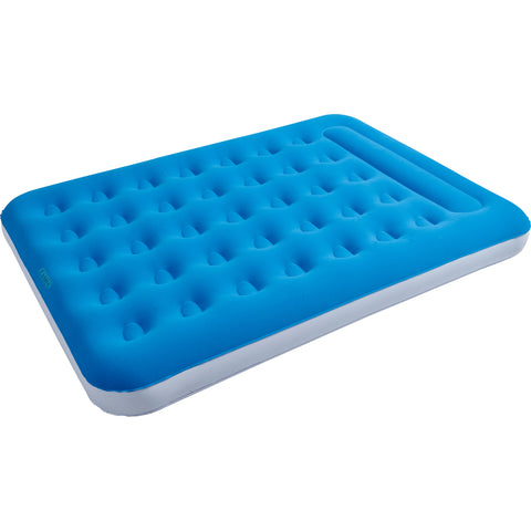"74.5"" Double Sized Pacific Blue Flocked Inflatable Guest Air Bed Mattress"