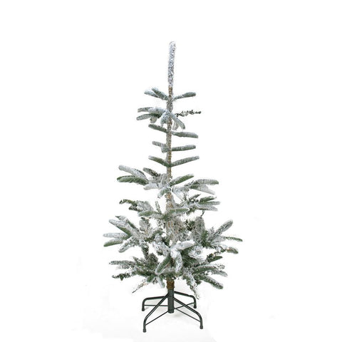 4.5' Flocked Noble Fir Artificial Christmas Tree - Unlit