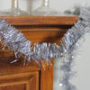 "50' x 2.25"" Silver Tinsel Artificial Christmas Garland - Unlit"