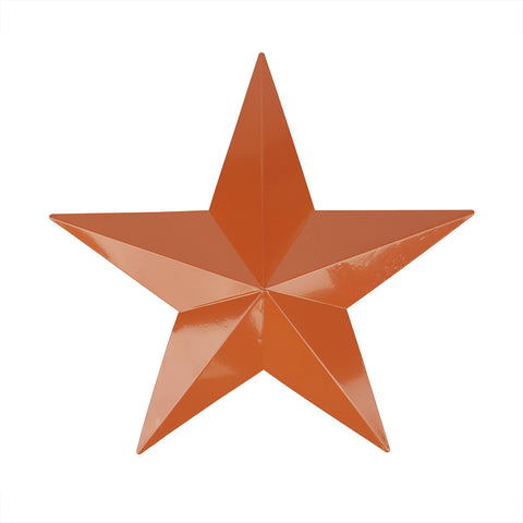 "15"" Light Brown Country Rustic Star Outdoor Patio Wall Decoration"