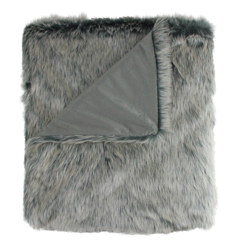 "White and Gray Rectangular Throw Blanket 50"" x 60"""