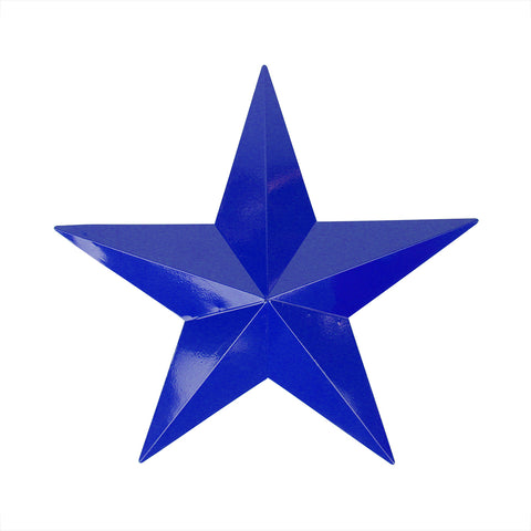 "24"" Blue Country Rustic Star Outdoor Patio Wall Decoration"