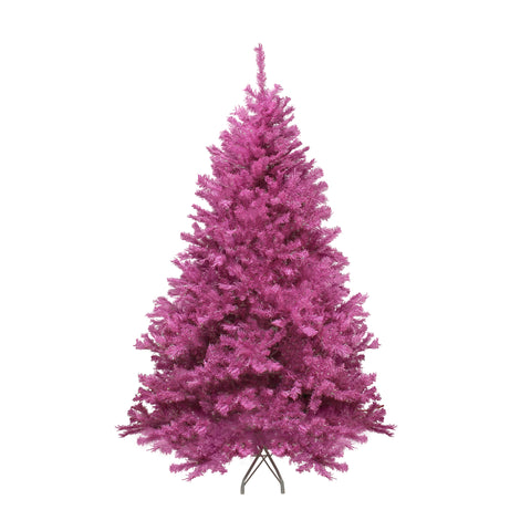 7.5' Orchid Pink Cedar Pine Artificial Christmas Tree - Unlit