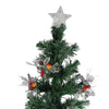 6' Pre-Lit Fiber Optic Slim Profile Artificial Christmas Tree - Multicolor Lights