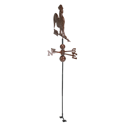 3' Chocolate Brown Rooster Outdoor Weathervane