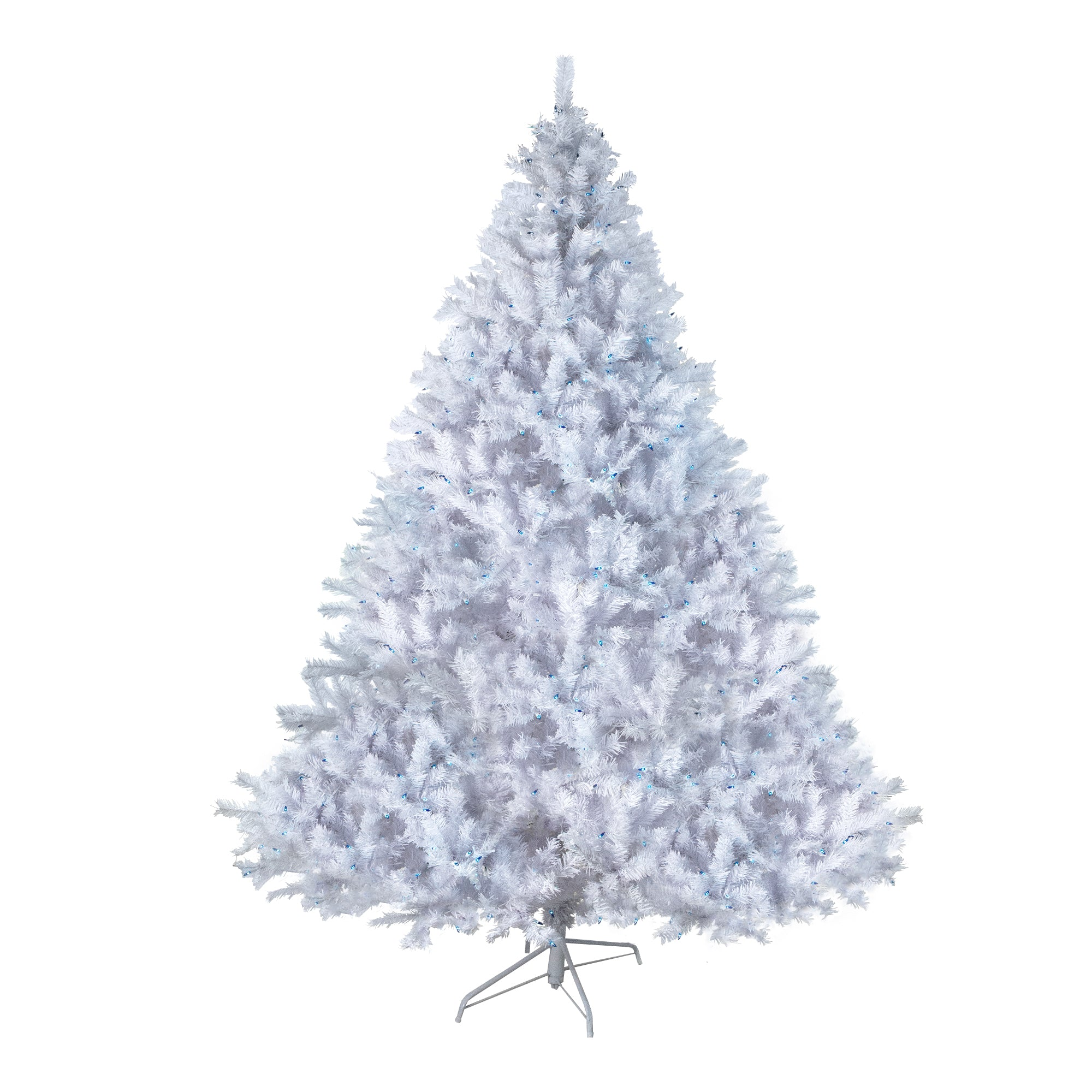 75 pre lit white cedar pine artificial christmas tree blue lights