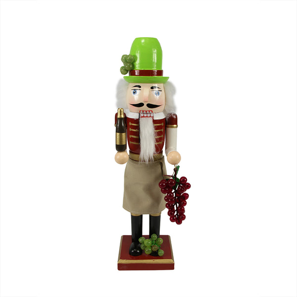 "14"" Green and Red Wine with Grapes Christmas Nutcracker"