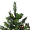 7' Unlit Full Snowy Delta Pine with Cones Artificial Christmas Tree