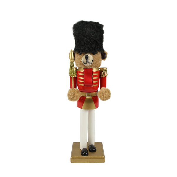 "14"" Red and Gold Soldier Nutcracker Christmas Table Top Decor"