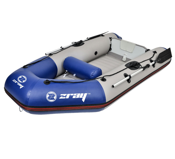 "98"" Gray Javelin IV 300 Inflatable Dinghy Boat with Oars"