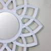 Set of 3 Floral Matte White Mirrors Wall Decor 9.5""
