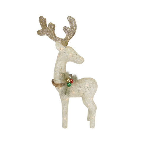 Northlight 43 Lighted White Standing Reindeer Christmas