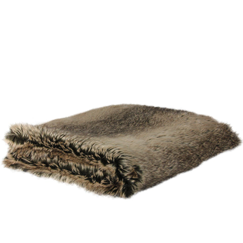 "Chocolate Brown Faux Fur Super Plush Throw Blanket 50"" x 60"""