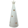 "25.5"" White LED Lighted Tree with Star Cutout Christmas Tabletop Decor"