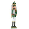 "24"" Green and Gold Christmas Nutcracker King with Sword"