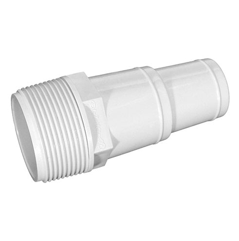 "4"" White Swimming Pool or Spa Threaded Hose Adapter"