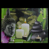 "LED Lighted Buddha and Bamboo Canvas Wall Art 12"" x 15.75"""
